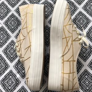 gold abstract platform keds sneakers